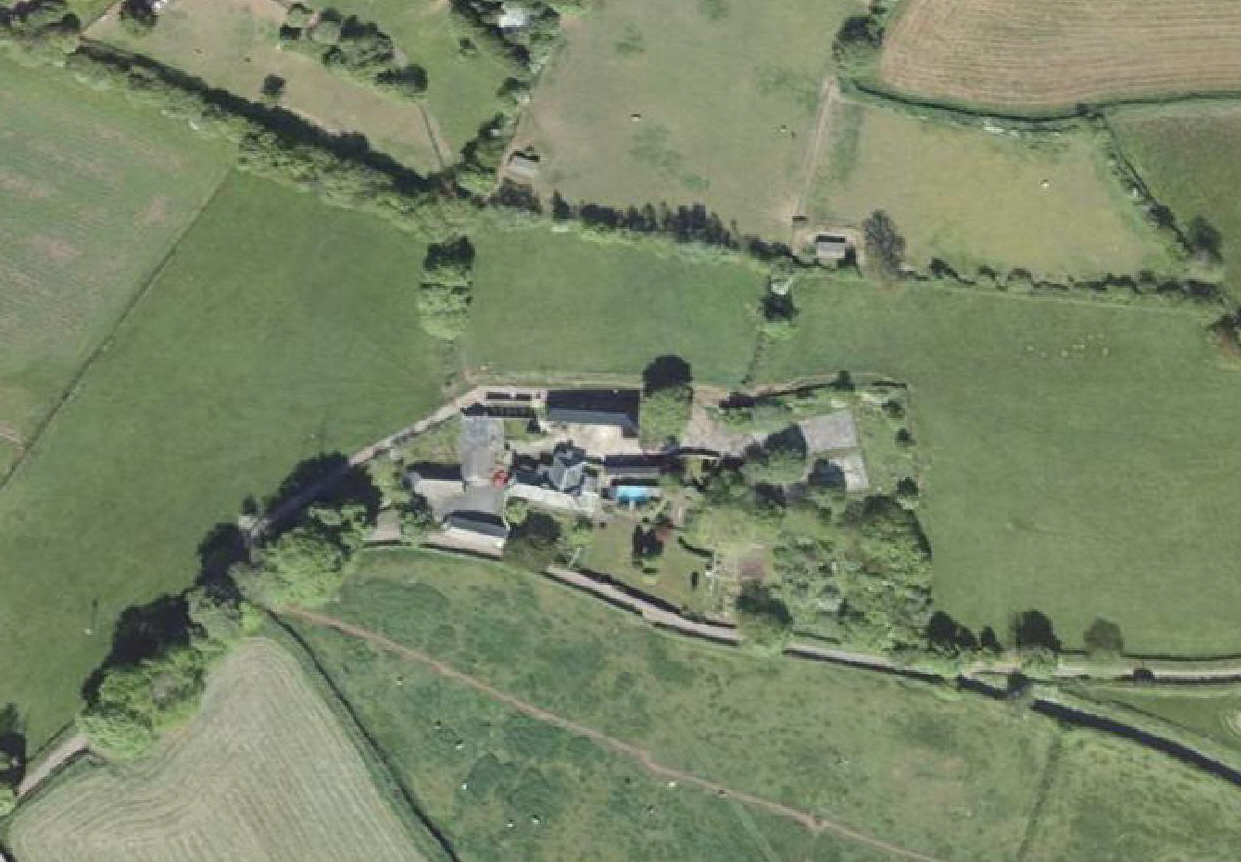 A topographic survey of farm buildings (part site)