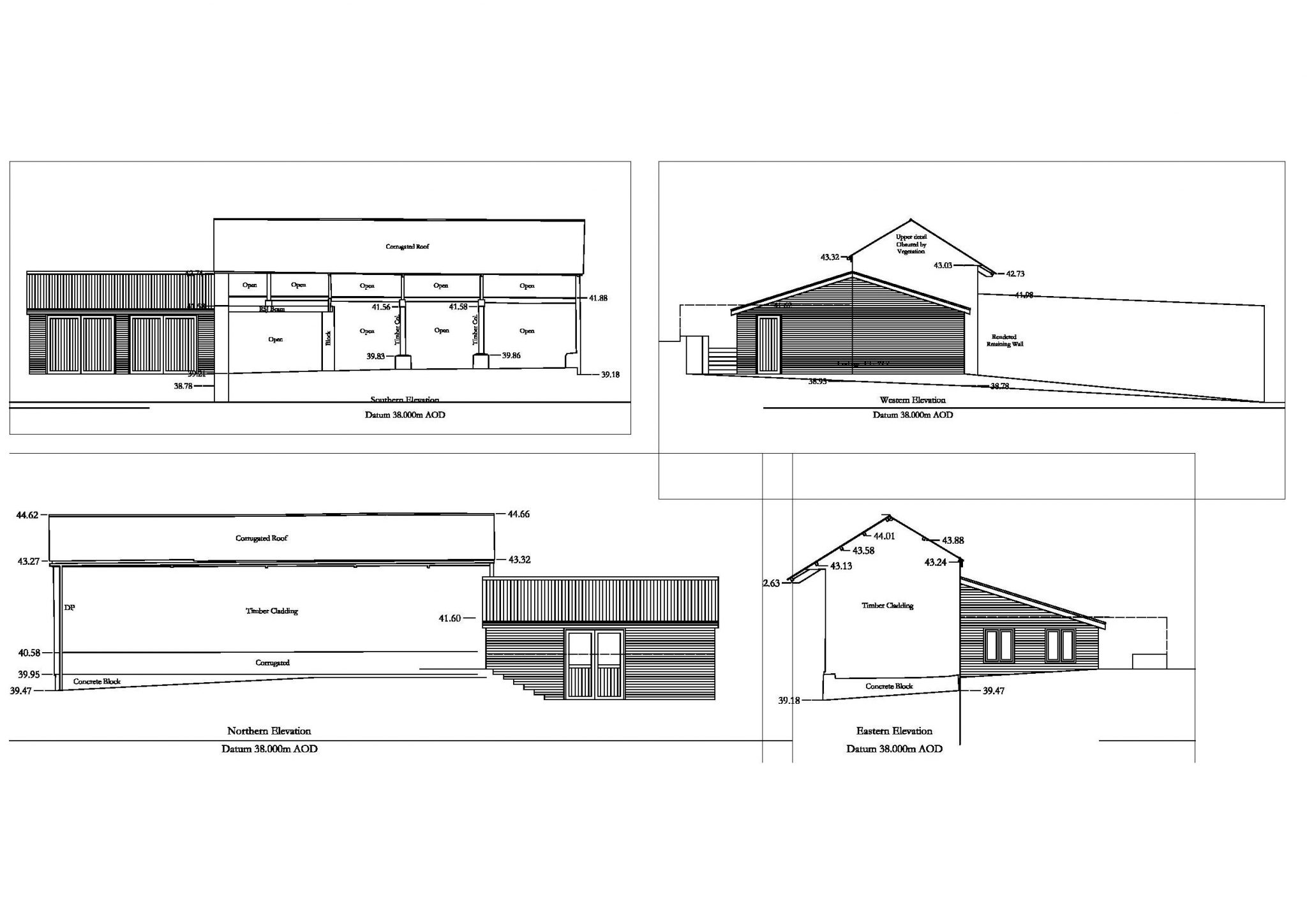 Alterations and extension of a barn